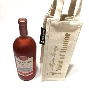 Handbags - 📌reusable canvas wine bag maid of honor proposal